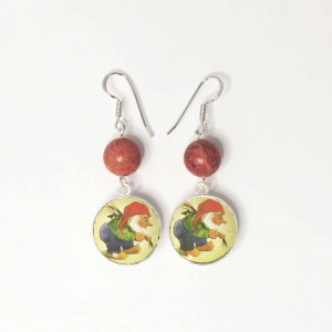 Chouffe earrings with beads