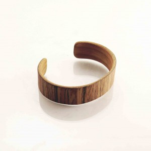Striped wooden bracelet