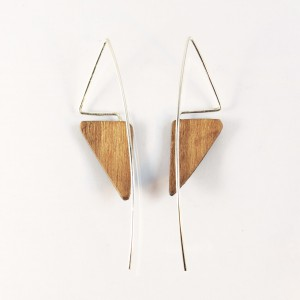 Wenge wooden earrings
