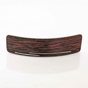 Wenge wooden hair clamp with silver