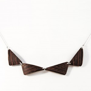 Wenge wooden necklace
