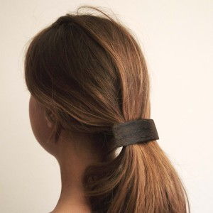 Black wooden hair clamp