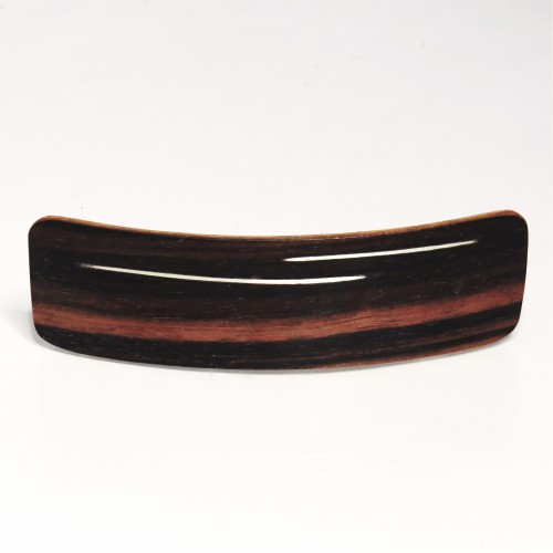 Coromandel wooden hair clamp with silver