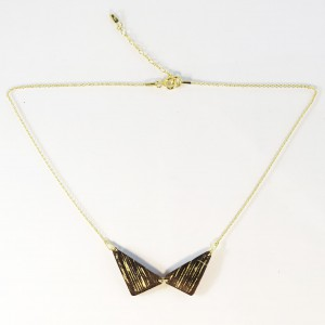 Gilded wooden necklace 2