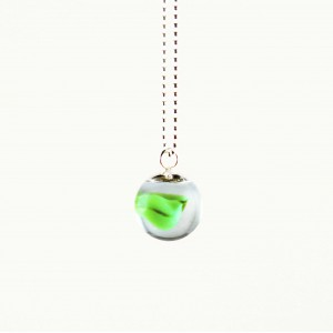 Marble necklace green
