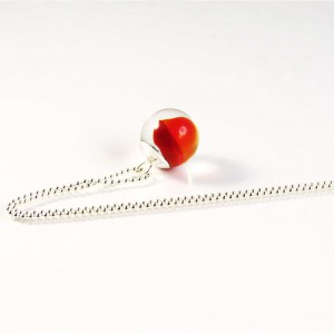 Marble necklace red