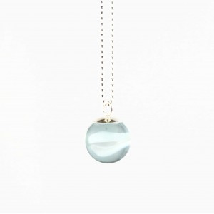 Marble necklace white