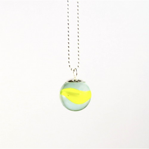 Marble necklace yellow