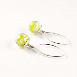 Marble earrings yellow