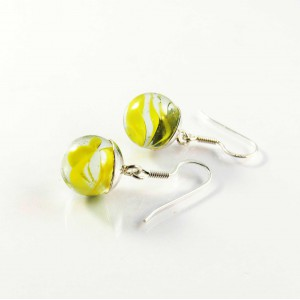 Marble earrings yellow short