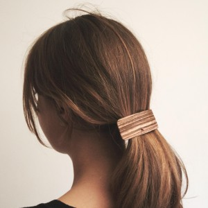 Zebrano wooden hair clamp