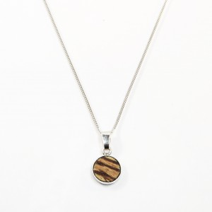 Zebrano wooden necklace