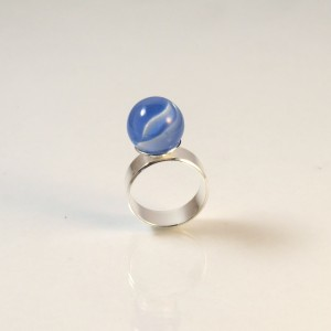 Marble ring blue
