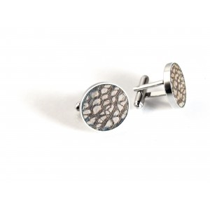 Cufflinks with dot wood
