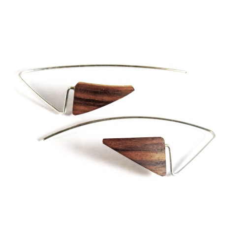 Padoek wooden earrings
