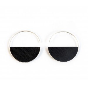 Black wooden earrings