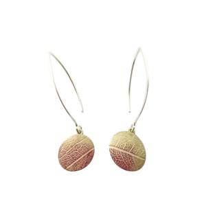 leaf vein earrings