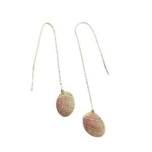 leaf vein earrings 2