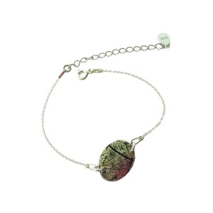 Leaf vein bracelet black